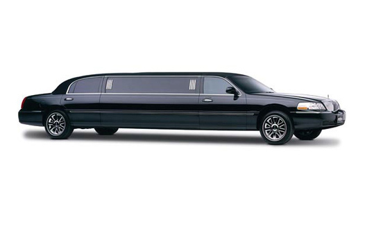 Black Lincoln Town Car Stretch Limousine