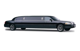 Image of a black stretch limo